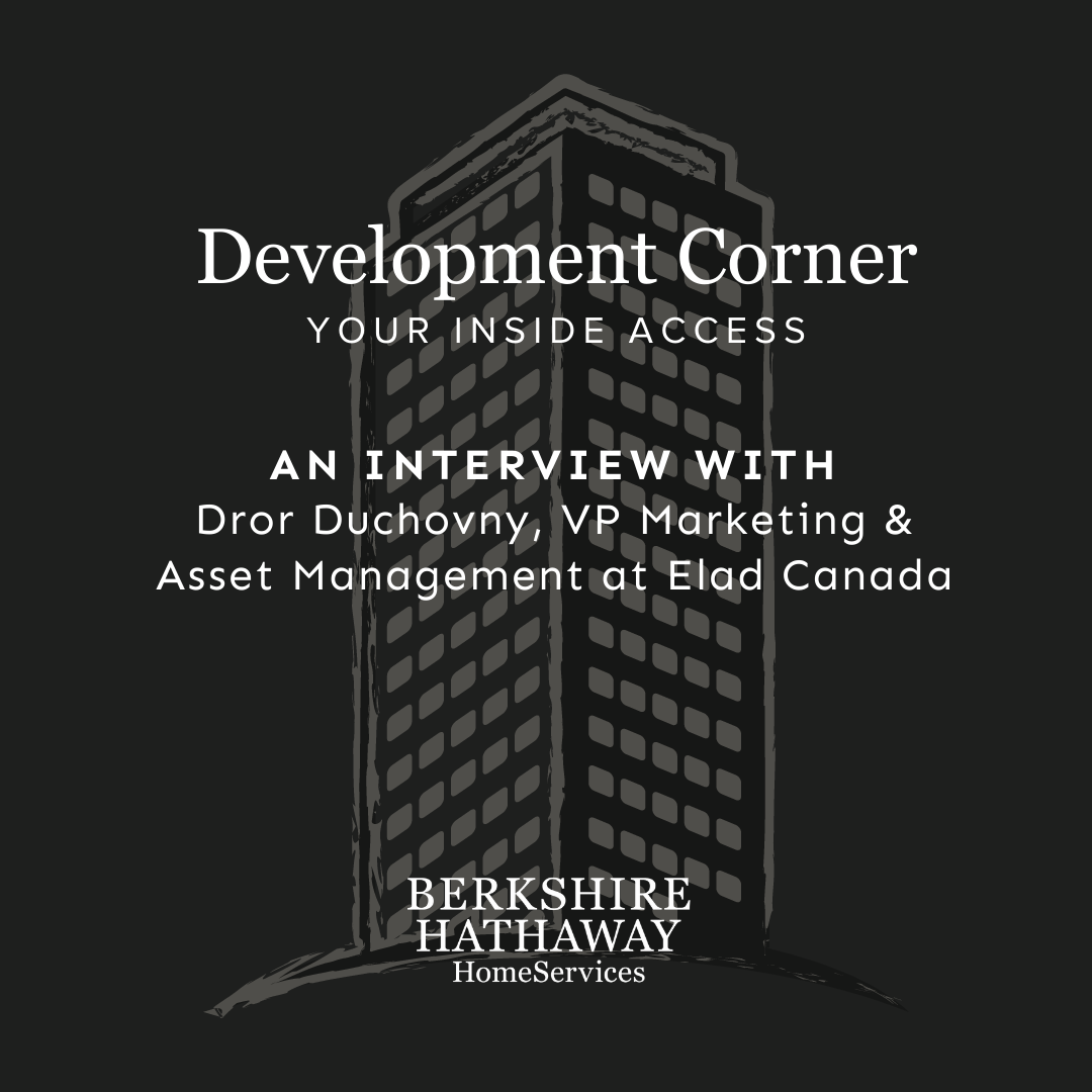 Development Corner Podcast – Elad Canada