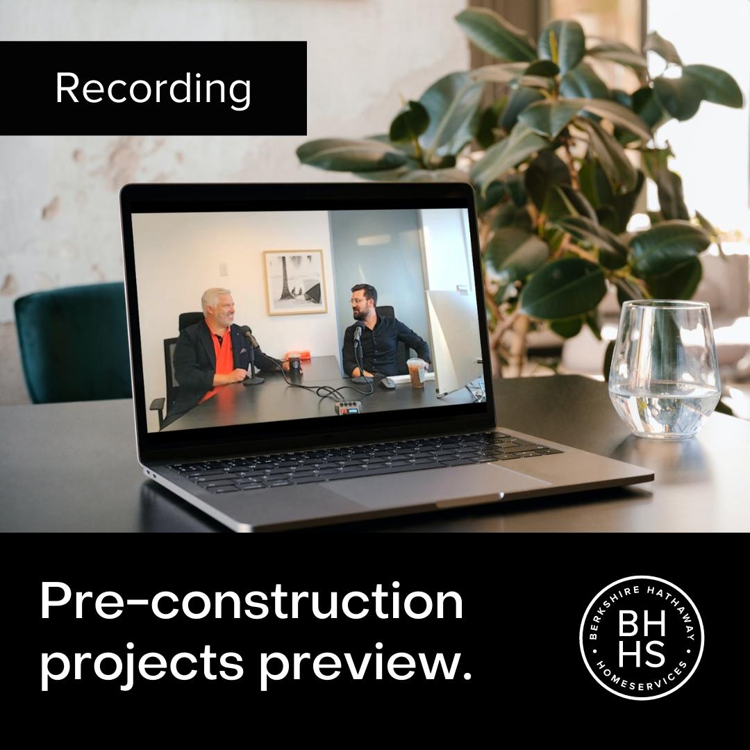 Recording – Pre-construction Preview October 2021